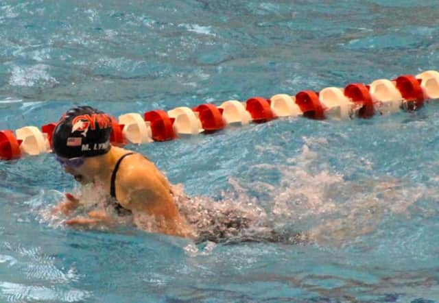 Meghan Lynch set new records for the Greenwich Town Swim Championships.