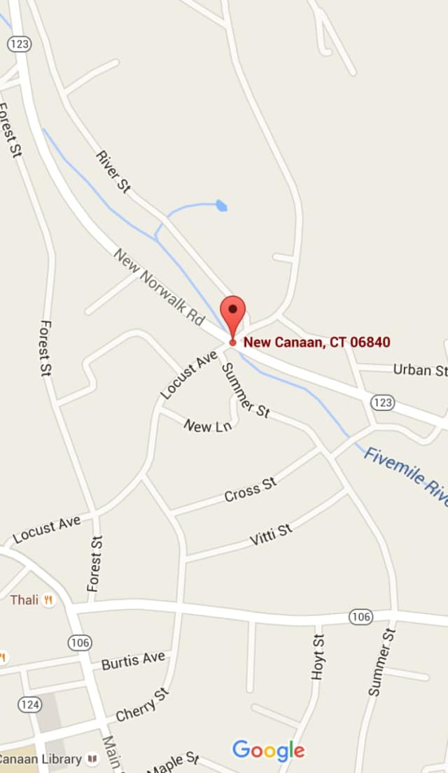 The accident happened at 2:19 a.m. Sunday at New Norwalk Road and Locust Avenue in New Canaan.
