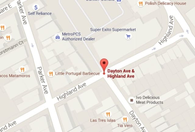 The man said he was accosted at the intersection of Dayton and Highland avenues.