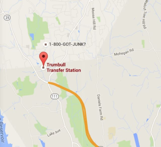 A man was killed when struck by a car at the Trumbull Transfer Station.