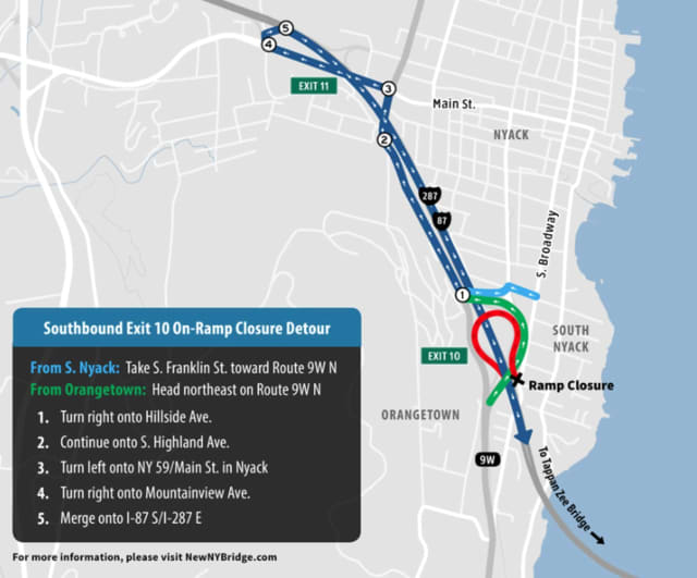 Tappan Zee Constructors will begin constructing noise barriers next week that will cause detours and lane closures.