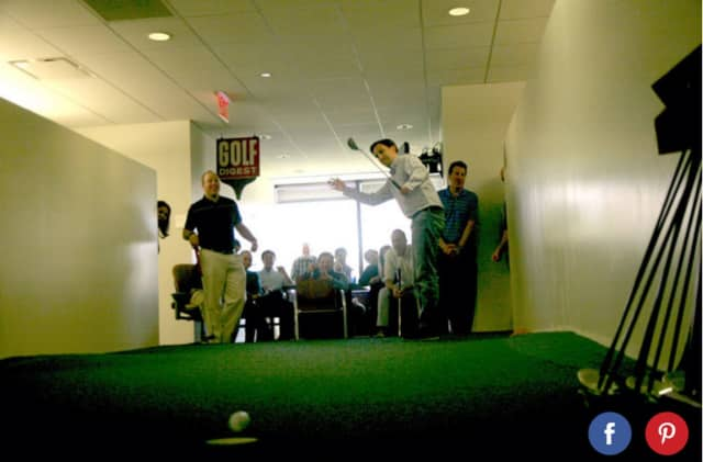 """The putting green at the offices of Golf Digest was known as the """"Royal Wilton."""""""