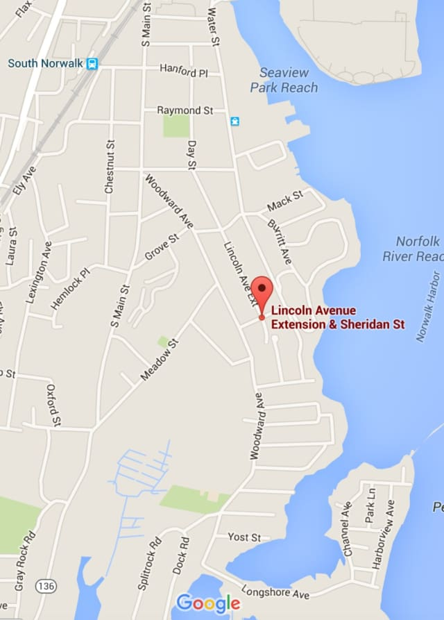 The shooting occurred at Sheridan Street at Lincoln Avenue in South Norwalk.