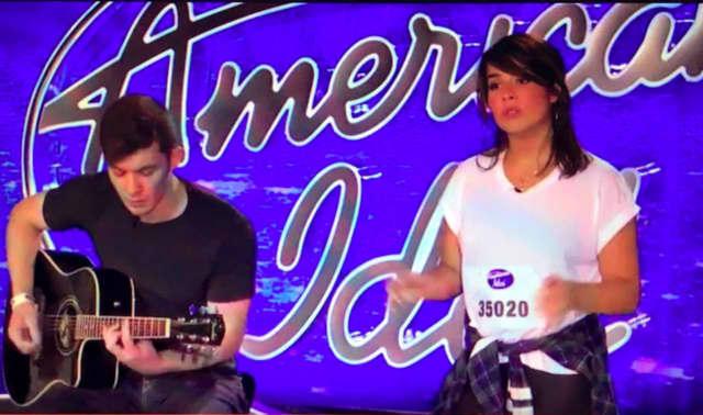 Caroline Byrne (right) will be on American Idol Jan. 13.