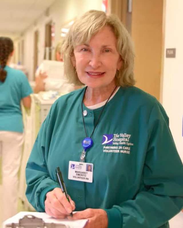 Margaret Emerito, of Wanaque, serves as a volunteer nurse at The Valley Hospital.