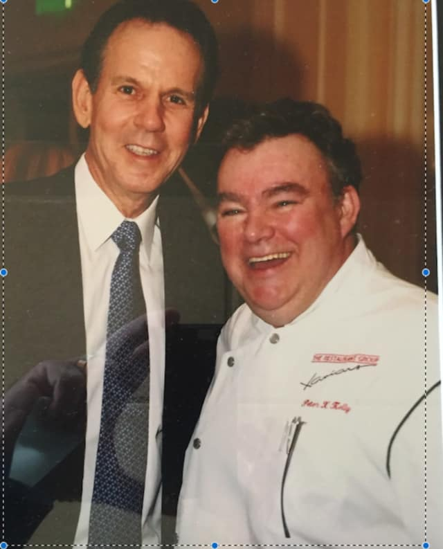Chef Peter X. Kelly with Thomas Keller of Manhattan's Per Se.