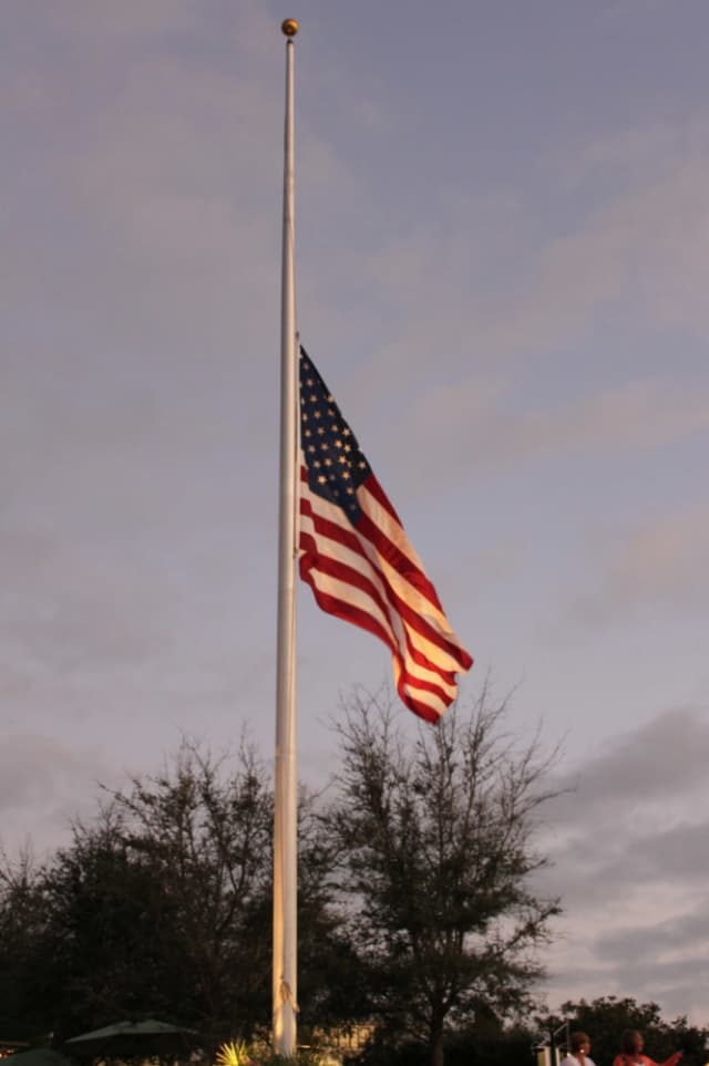 Flags will fly at half-mast throughout the Pelham School District community on Friday, as they celebrate the life of Pat Troutman.