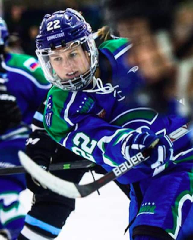 Danielle Ward of Stamford, who plays with the Connecticut Whale, was named the National Women's Hockey League Player of the Week after three goals in two games last weekend.
