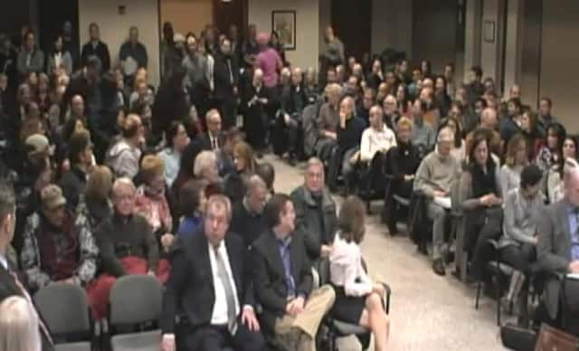 Greenburgh residents packed Town Hall for the hearing on the proposed Jefferson apartment development in Ardsley.