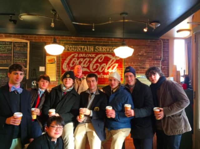 Art History students at Trinity-Pawling School in Pawling made a quick stop at McKinney and Doyle before taking the train into NYC for a day at museums.