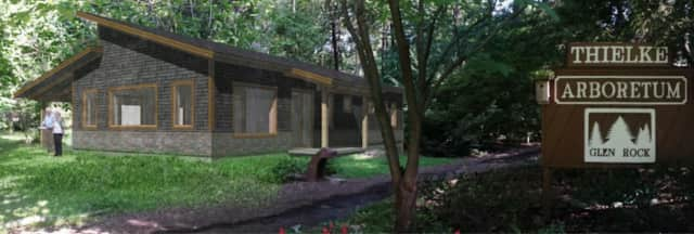A rendering of the proposed Thielke Arboretum.