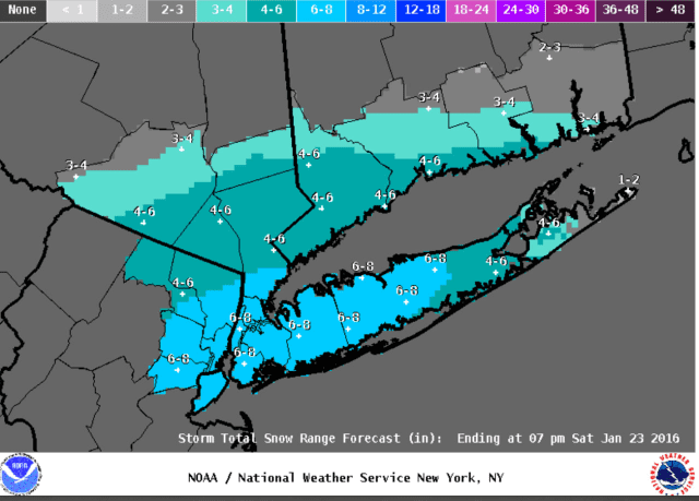 A look at projected snow totals for the storm.
