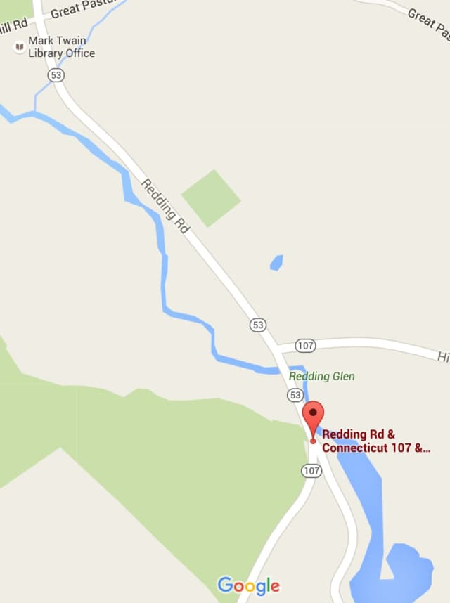 The town of Redding may change the rules for the stop sign at Route 107 to alleviate morning traffic snarls.
