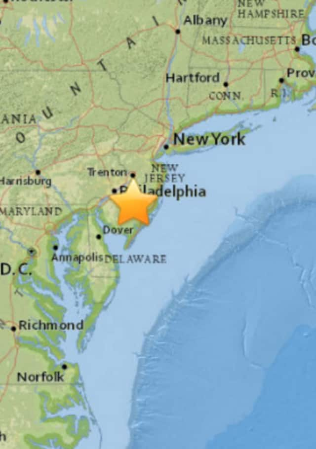 The U.S. Geological Survey recorded the sonic boom Thursday afternoon in southern New Jersey, over 100 miles from Coastal Connecticut.