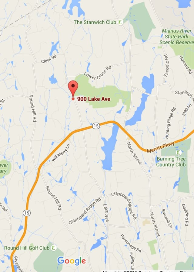 Lake Avenue is closed in backcountry Greenwich between Burying Hill Road and Old Mill Road after an accident.
