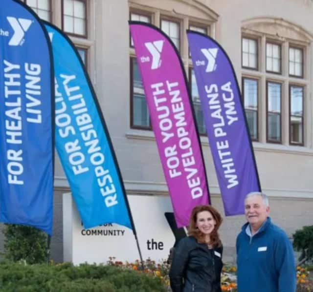 Heather Bell, left, and Tom Hay have started a new fitness program for children at the White Plains YMCA. The program is free with membership.