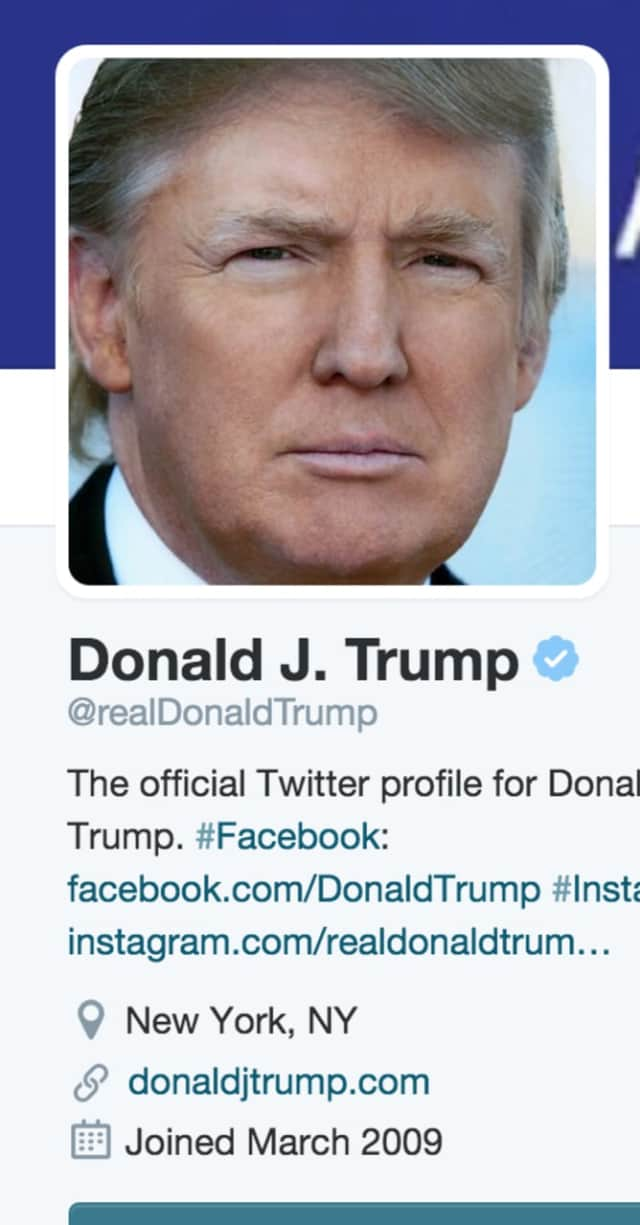 Donald Trump's Twitter page is no longer available for view.