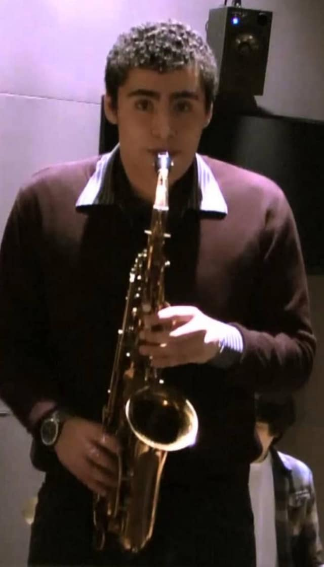 Ben Fitzpatrick, a saxophone player selected for Grammy Camp, is a senior at Bethel High School.