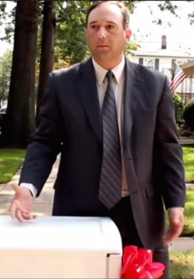 Norwalk actor and lawyer Robert Sciglimpaglia in the Super Bowl ad 'Happy Grad' from 2012.