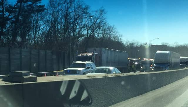 The death of the pedestrian struck by a tractor-trailer on I-95 in Darien Tuesday has been ruled a suicide.