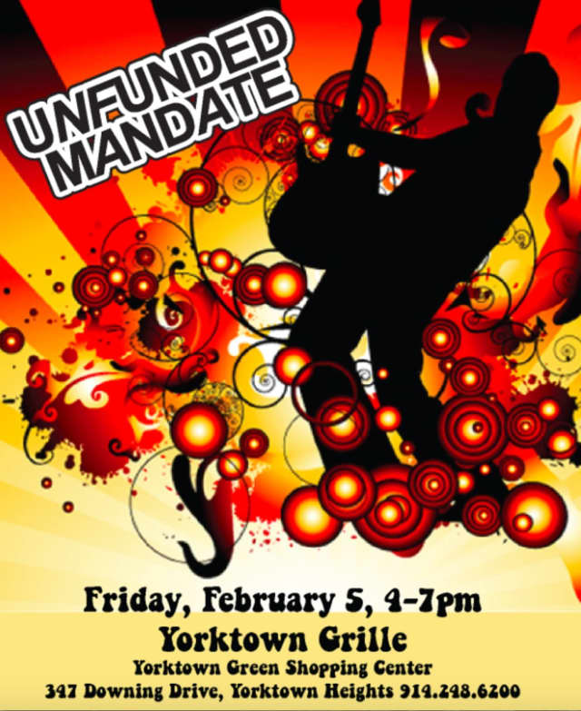 """The musical group """"Unfunded Mandate"""" will be appearing at the Yorktown Grille."""