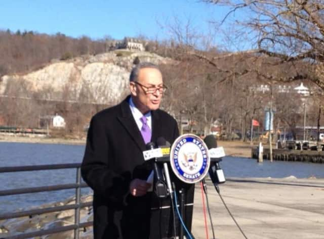 U.S. Sen. Chuck Schumer during a recent visit to Indian Point.