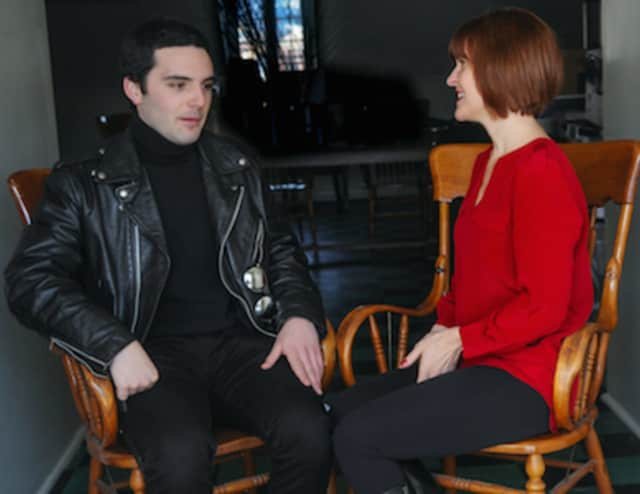 """Actor Joey Santia and director Claire Kelly talk about how Shakespeare illuminates the workings of the soul and turns life into art in """"Hamlet,"""" which will be staged in Rowayton's Pinkney Park starting June 16."""