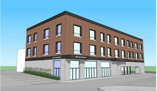 Justin Shaw, President of JCS Construction Group in Stamford, with the help of Greenwich Architect Richard Granoff, are building 12 high-end luxury one bedroom rental apartments adjacent to the Rye train station.
