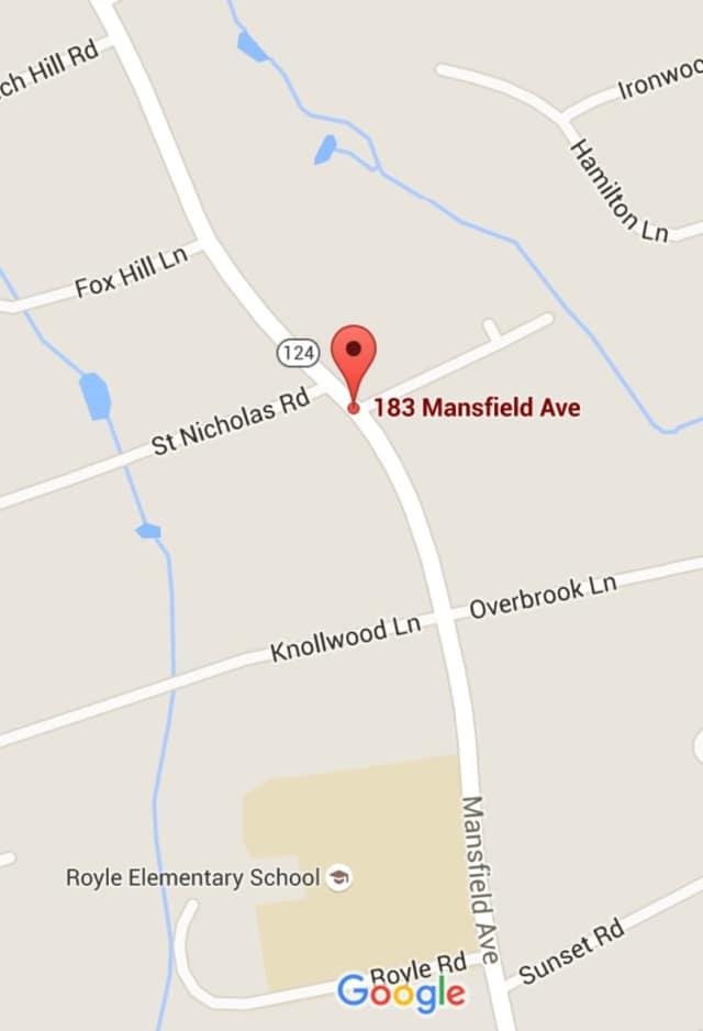 A water main break was reported Sunday on Mansfield Avenue near Mansfield Place in Darien.