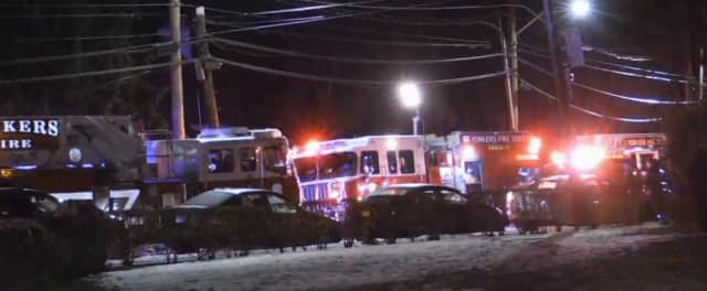 An off-duty Yonkers police detective was killed in an overnight crash in which his SUV collided with a firetruck.