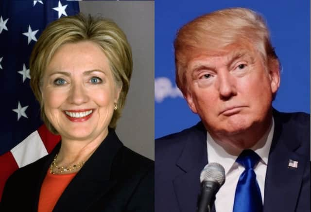 Presidential contenders Hillary Clinton and Donald Trump.
