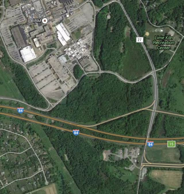 An accident involving a new fire engine snarled traffic on I-84 in East Fishkill.