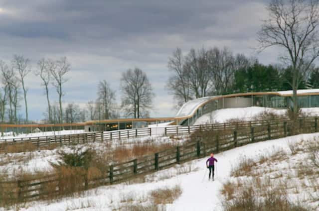 Winter recreation, including snowshoeing, cross-country skiing and ice skating is open at Grace Farms. Activities culminate with a free Winter Outing program on March 5