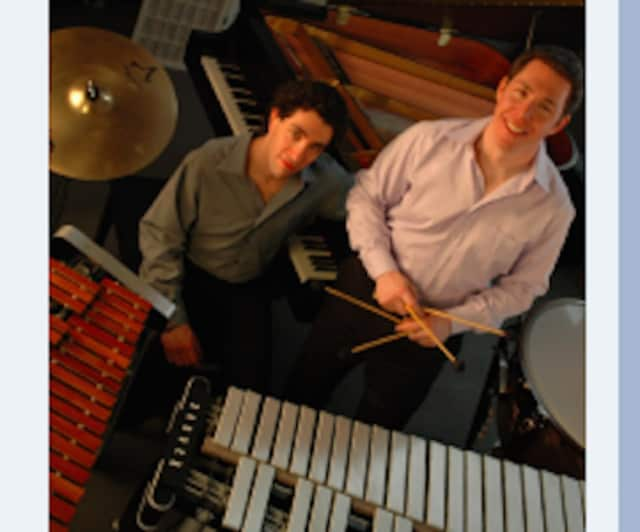 The Synchronicity Piano and Percussion Duo will be playing in New Canaan Library's Notes in Midwinter Concert Series.