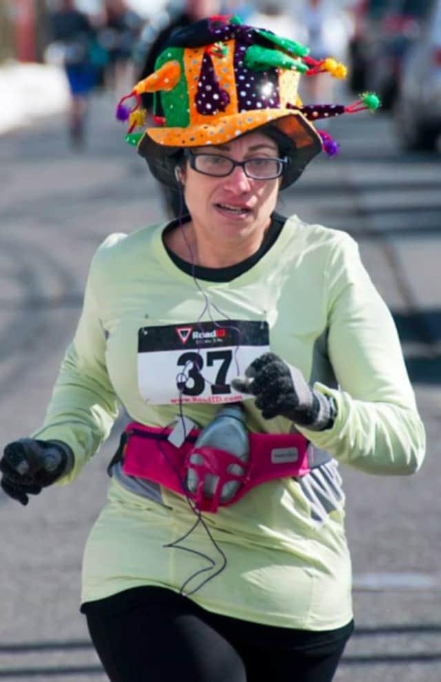 Tammy Irwin Smith of Fair Lawn runs in a prior year's Purim 5K.