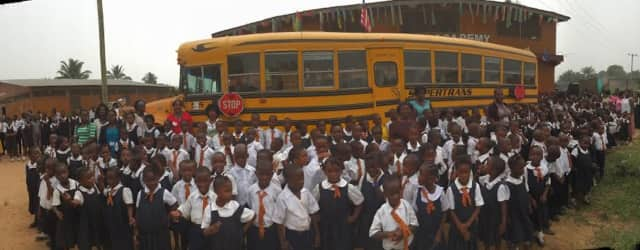 Yonkers Rotary-East donated this bus to a school in Monrovia, Liberia West Africa.