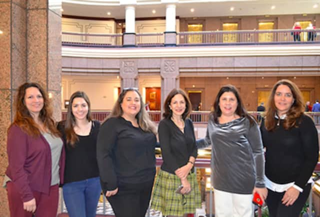 Paula Penna of Manchester, Rachel Penna-Sher of Manchester, Gabriella True of West Hartford, State Rep. Gail Lavielle, Lisa Williams of Wilton and Joan McCullough of Wilton.