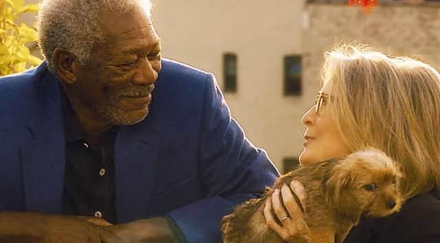 "Morgan Freeman and Diane Keaton star in ""5 Flights Up."""
