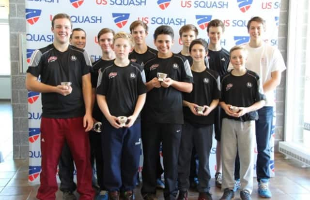 The boys squash team from St. Luke's in New Canaan.