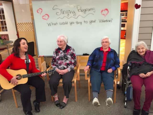 Waveny LifeCare Network's Adult Day Program featured a special Valentine's themed day.