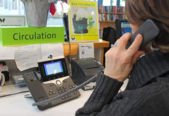 Wilton Library has updated its phone system.
