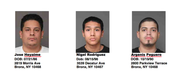 Three men are facing charges of fraud after being arrested on Friday by Greenburgh police.