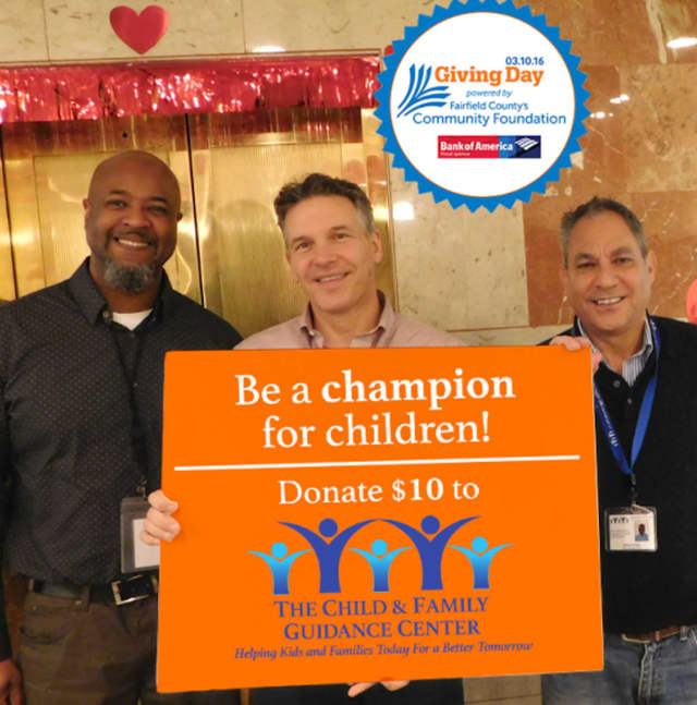 Left to right are Terril Pile, Outpatient Director, Child & Family Guidance Center; Dr. Christopher Bogart, CEO, The Southfield Center for Development; and Michael Patota, President/CEO, Child & Family Guidance Center.