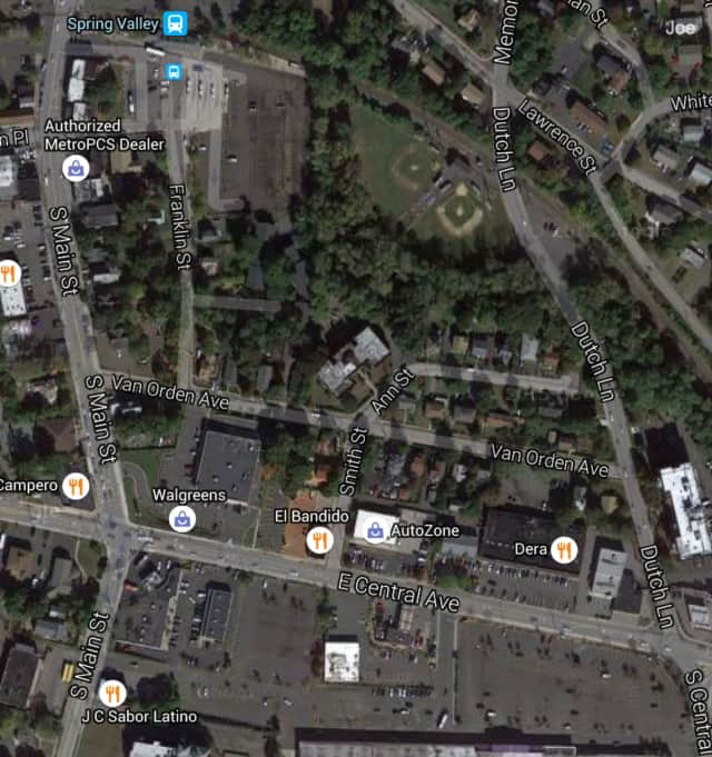 The closure, which began around 10 a.m., is in the area of South Main Street, Van Order Avenue and Dutch Lane.