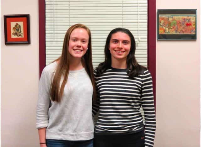 Briarcliff High School seniors Emma Burns (left) and Caroline Pennacchio have been selected as candidates in the 2016 United States Presidential Scholars Program.