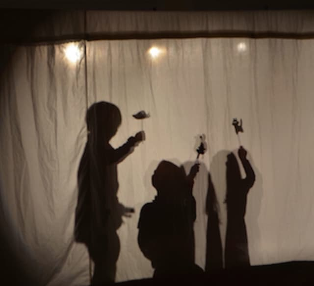 New Canaan Country School early learning students recently performed shadow puppet plays for their parents.