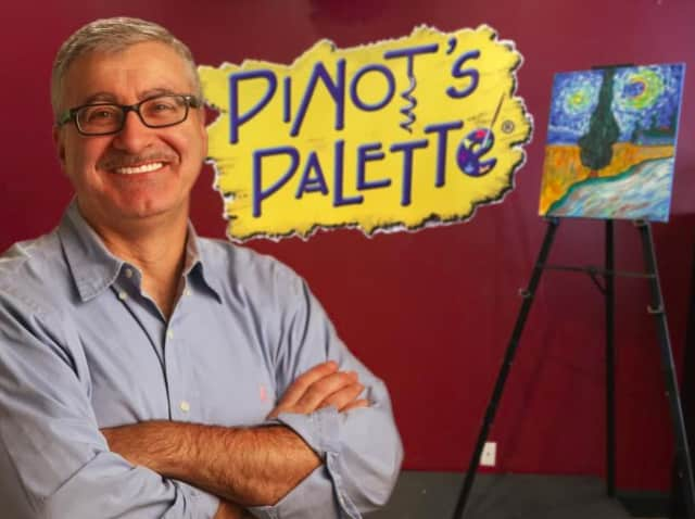 Pat Cipollone is brining painting fun to lower Westchester with Pinot's Palette in Tuckahoe.