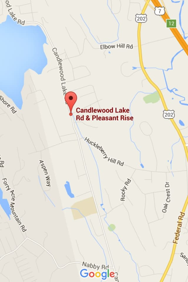 Candlewood Lake Road in Brookfield is closed just north of St. Marguerite Bourgeoys Church.