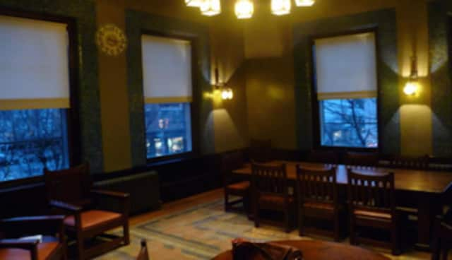 Irvington Library's reading room is a gift from Charles Lewis Tiffany.