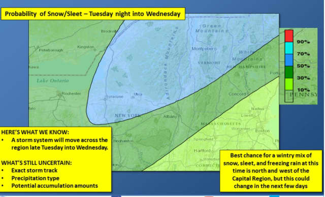 A look at the weather system that will be arriving in the area late Tuesday.